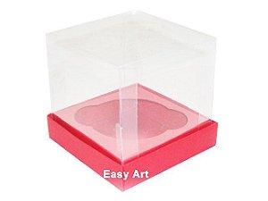 Caixas para 1 Mini Cupcake - Vermelho