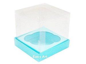Caixas para 1 Mini Cupcake - Azul Tiffany