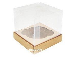 Caixas para 1 Mini Cupcake - Marrom Claro