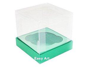 Caixas para 1 Mini Cupcake - Verde Bandeira