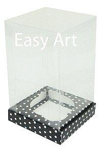 Caixas para Cupcakes - Preto com Poás Brancas