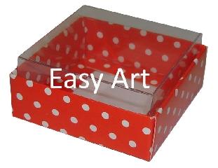 Caixinhas para Bijuterias / Vermelho com Poás Brancas - 5x5x2,5