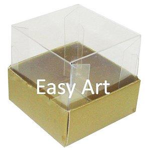 Caixinha para 1 Trufa / Brigadeiro - Dourado Brilhante