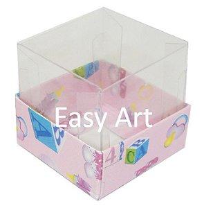 Caixinha para 1 Trufa / Brigadeiro - Estampado Bebê Rosa