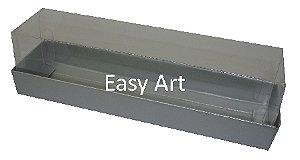 Caixas para Macarons - 15x4x4 / Prata Fosco