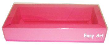 Caixa para 10 Brigadeiros / Tampa Transparente - Pink