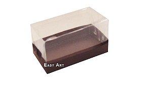 Caixa Para 2 Brigadeiros - Marrom Chocolate