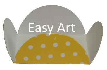 Forminhas para Doces - Pacote com 100 Unidades / Amarelo com Poás Brancas