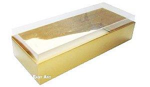 Caixa para 8 Brigadeiros - Dourado Brilhante