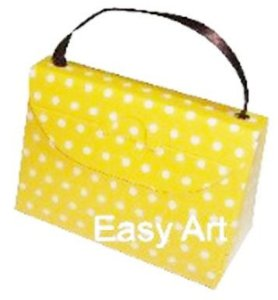 Caixa Bolsinha - Amarelo com Poás Brancas