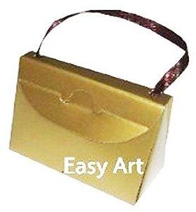 Caixa Bolsinha - Dourado Brilhante