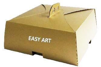 Caixas para Bolos e Tortas 20x20x4,5 - Dourado