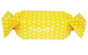 Caixa Bala - Amarelo com Poás Brancas
