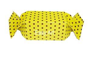 Caixa Bala - Amarelo com Poás Marrom