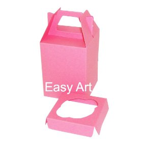Caixa Maleta para 1 Cupcake - Pink