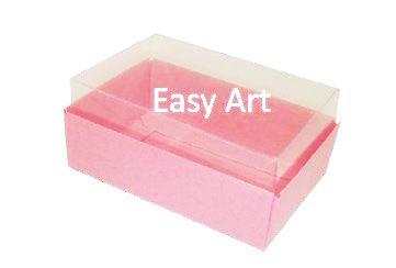 Caixas para 06 Mini Doces - Rosa Claro