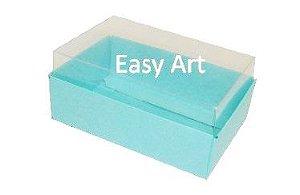 Caixas para 06 Mini Doces - Azul Tiffany