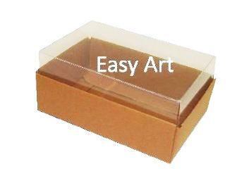 Caixas para 06 Mini Doces - Marrom Claro
