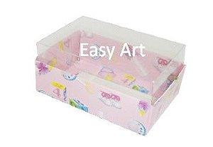 Caixas para 06 Mini Doces - Estampado Bebê Rosa