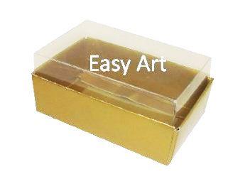 Caixas para 06 Mini Doces - Dourado