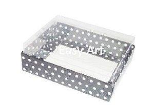 Caixas para 12 Mini Doces - Preto com Poás Brancas