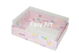 Caixas para 12 Mini Doces / Estampado Bebê Rosa