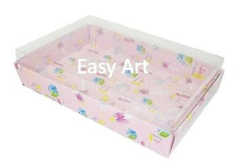 Caixas para 24 Mini Doces / Estampado Bebê Rosa