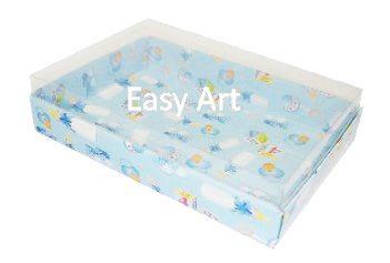 Caixas para 24 Mini Doces / Estampado Bebê Azul