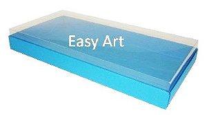 Caixas para 50 Mini Doces - Azul Turquesa