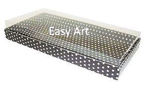 Caixas para 50 Mini Doces - Preto com Poás Brancas