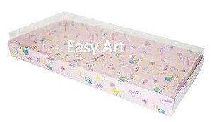 Caixas para 50 Mini Doces / Estampado Bebê Rosa