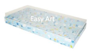 Caixas para 50 Mini Doces / Estampado Bebê Azul