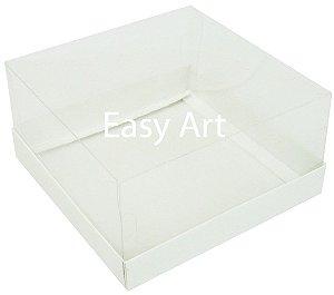 Caixas para Coração Lapidado / Mini Bolo 12x12x6 - Branco
