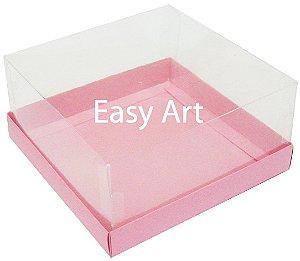 Caixas para Coração Lapidado / Mini Bolo - Rosa Claro