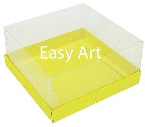 Caixas para Coração Lapidado / Mini Bolo - Amarelo