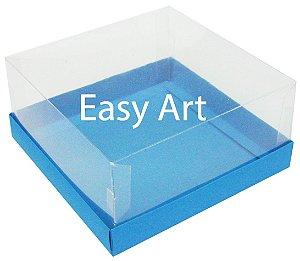 Caixas para Coração Lapidado / Mini Bolo - Azul Turquesa
