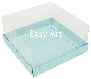 Caixas para Coração Lapidado / Mini Bolo 12x12x6 - Azul Claro