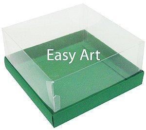 Caixas para Coração Lapidado / Mini Bolo - Verde Bandeira