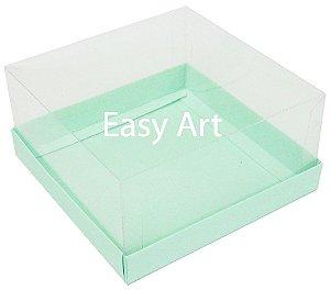 Caixas para Coração Lapidado / Mini Bolo - Verde Claro