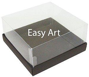 Caixas para Coração Lapidado / Mini Bolo 12x12x6 - Marrom Chocolate