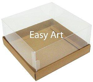 Caixas para Coração Lapidado / Mini Bolo - Marrom Claro