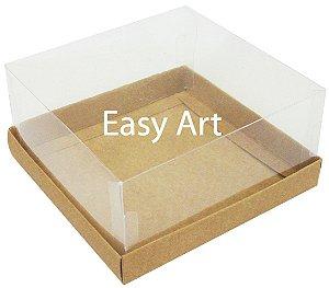 Caixas para Coração Lapidado / Mini Bolo 12x12x6 - Kraft