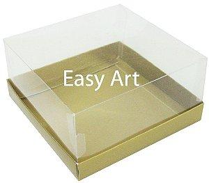 Caixas para Coração Lapidado / Mini Bolo - Dourado