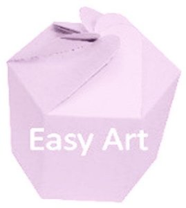 Caixa Flor para Presentes - Rosa Claro