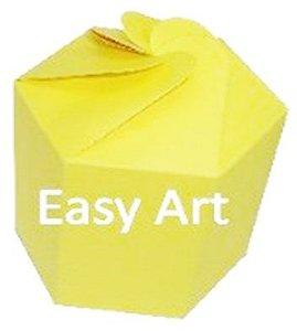 Caixa Flor para Presentes - Amarelo