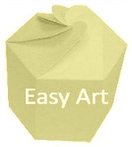 Caixa Flor para Presentes - Marfim