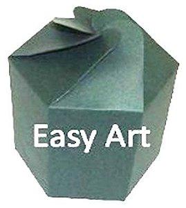 Caixa Flor para Presentes - Verde Musgo