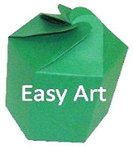 Caixa Flor para Presentes - Verde Bandeira