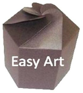 Caixa Flor para Presentes - Marrom Chocolate