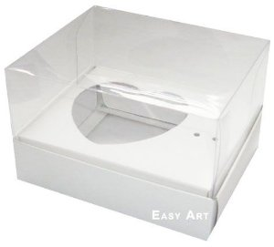 Caixa coração de Colher / 100g - Branco - Pct com 10 Unidades